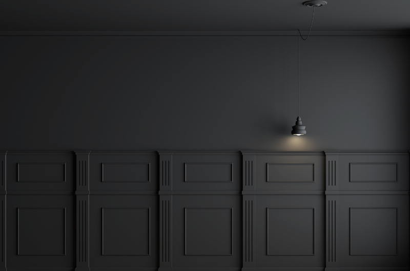 Photo of matt black wall